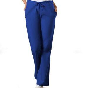 Cherokee Galaxy Blue Drawstring Scrub Pants PETITE